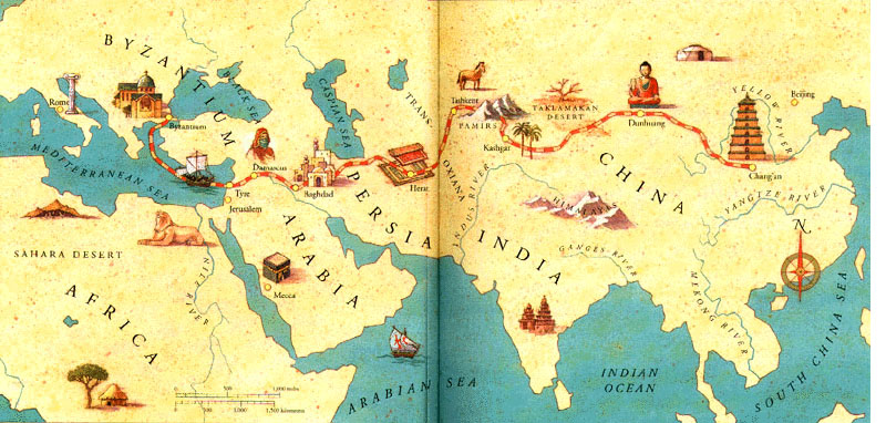 Map of the Silk Road