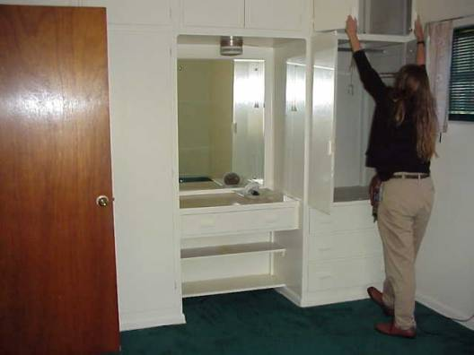 Master Bedroom Closets And Vanity And Catherine On Western Wall
