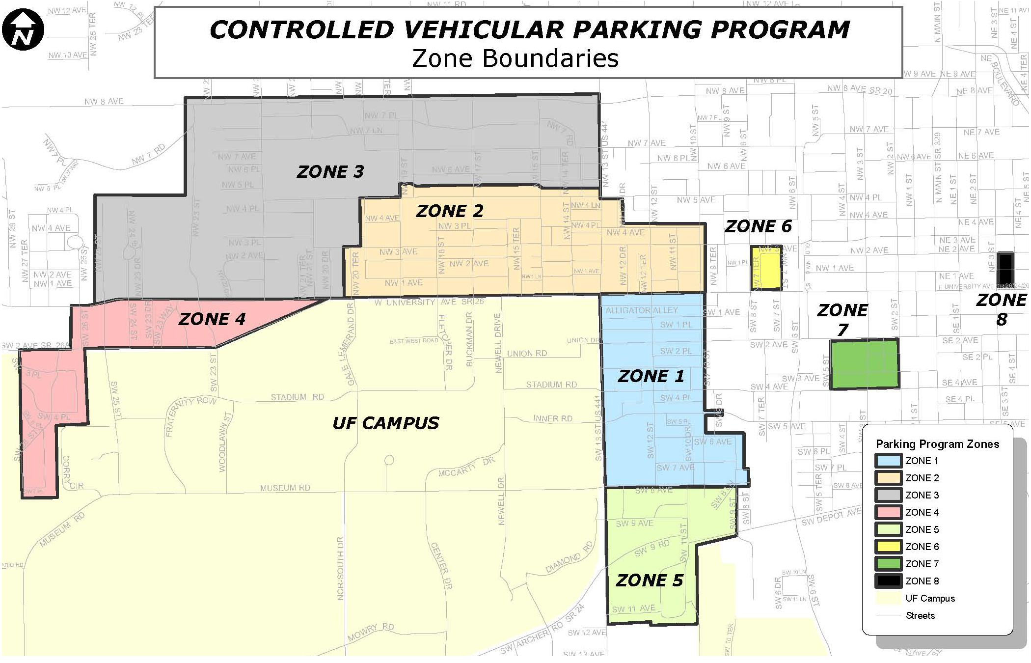 Gainesville Neighborhood Parking Map Gatorpads