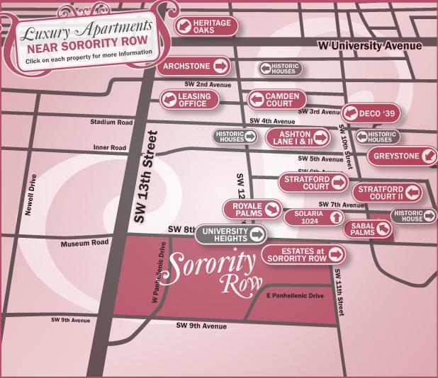 Gainesville Apartments Near Sorority Row