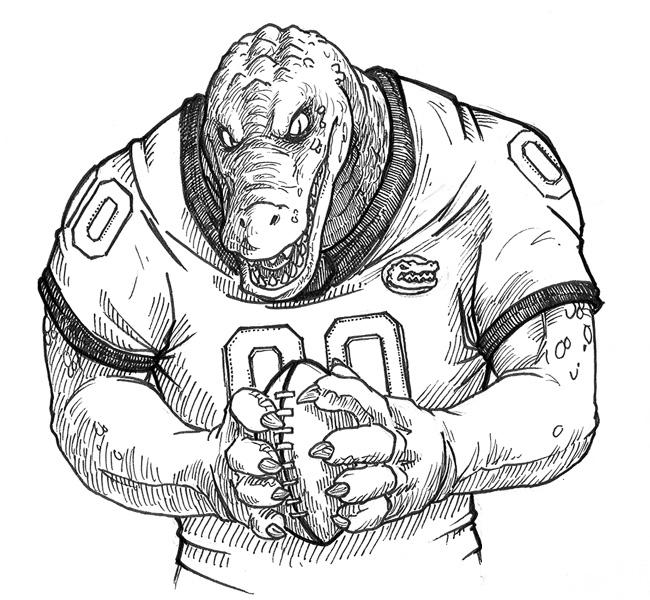 florida gators printable coloring pages - photo#18